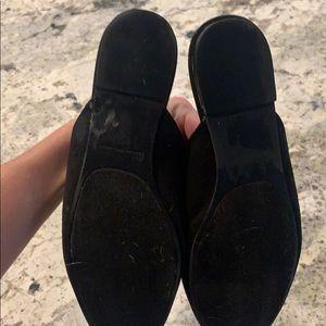 "SO Shoes - Black slip-on ""smoking slipper"" flat mule"